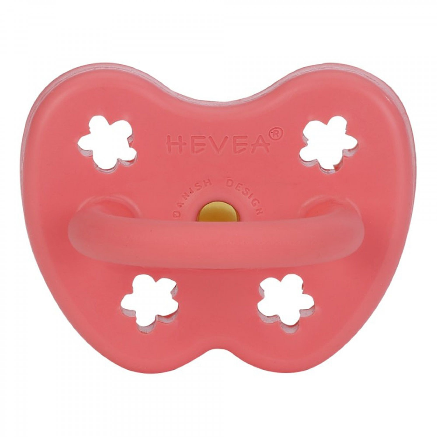 HEVEA Orhodontic Pacifier | Coral  3-36 Months