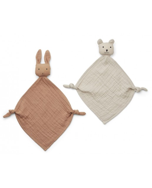 Yoko Mini Cuddle Cloth 2 Pack | Tuscany rose/sandy mix