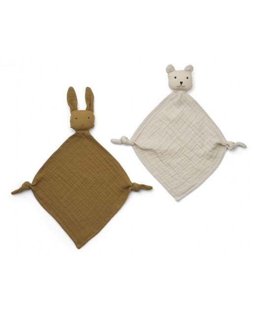 Yoko Mini Cuddle Cloth 2 Pack | Olive green/sandy mix