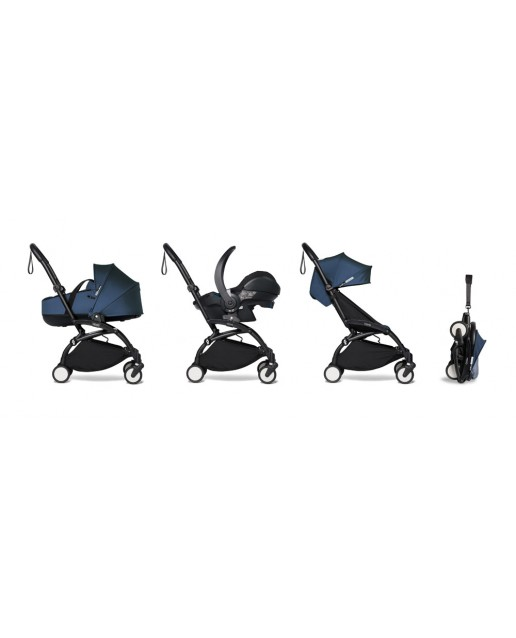 All-in-one BABYZEN stroller YOYO2 bassinet, car seat and 6+  Black Frame | Navy