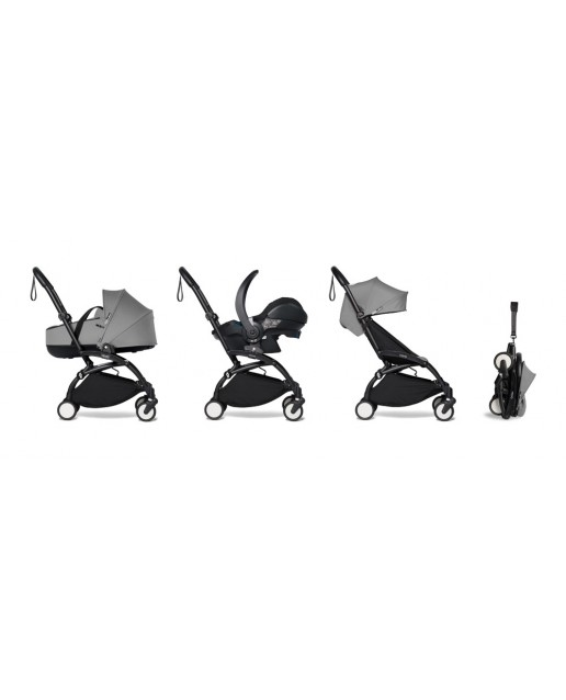 All-in-one BABYZEN stroller YOYO2 bassinet, car seat and 6+  Black Frame | Grey
