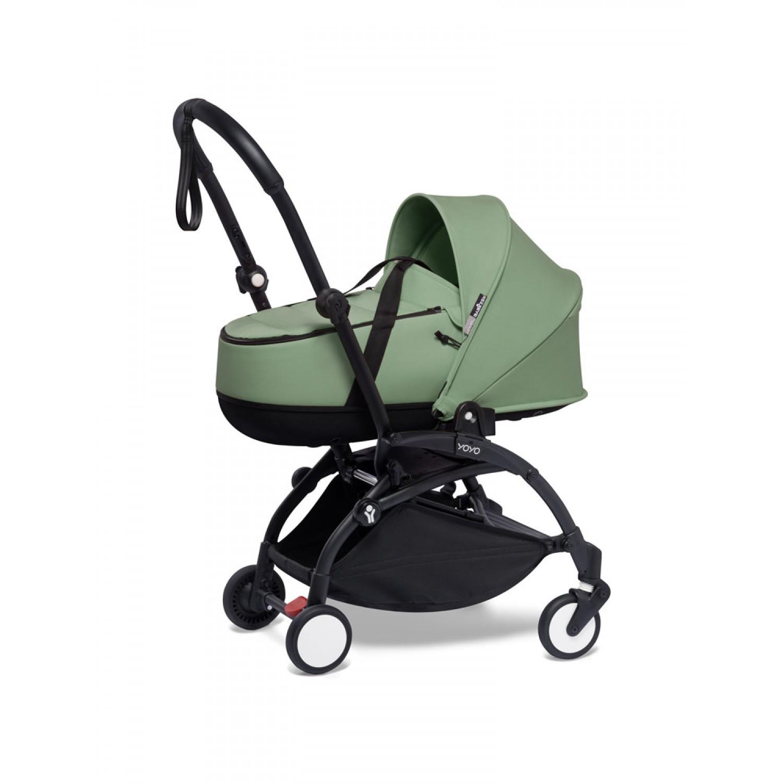BABYZEN stroller YOYO2 bassinet  Black Frame | Peppermint