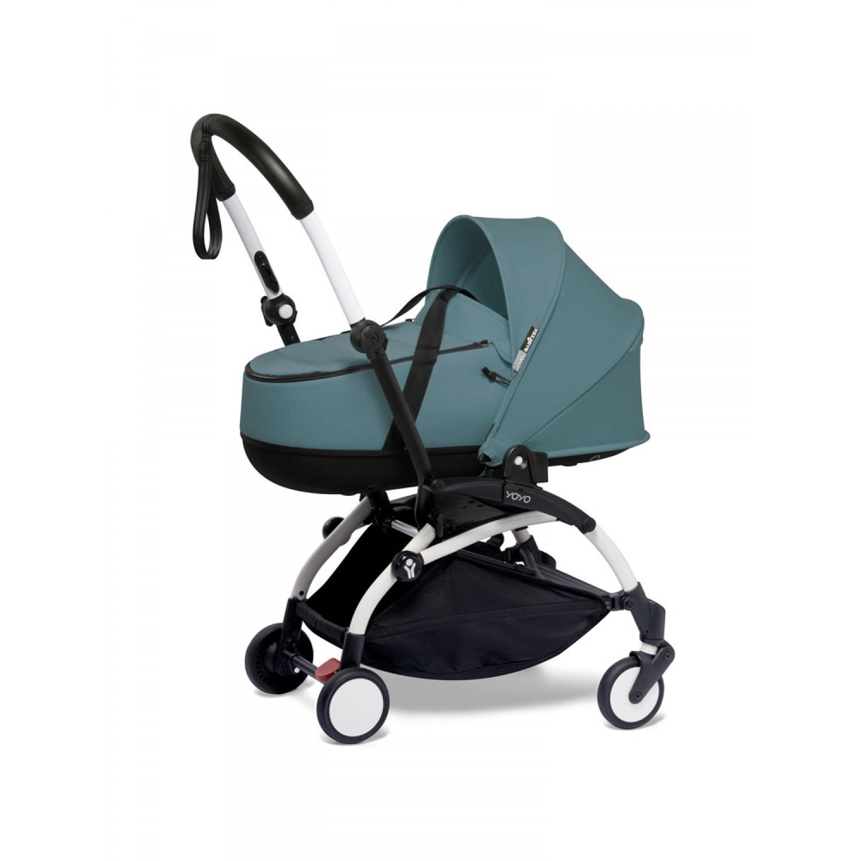 BABYZEN stroller YOYO2 bassinet  White Frame | Aqua