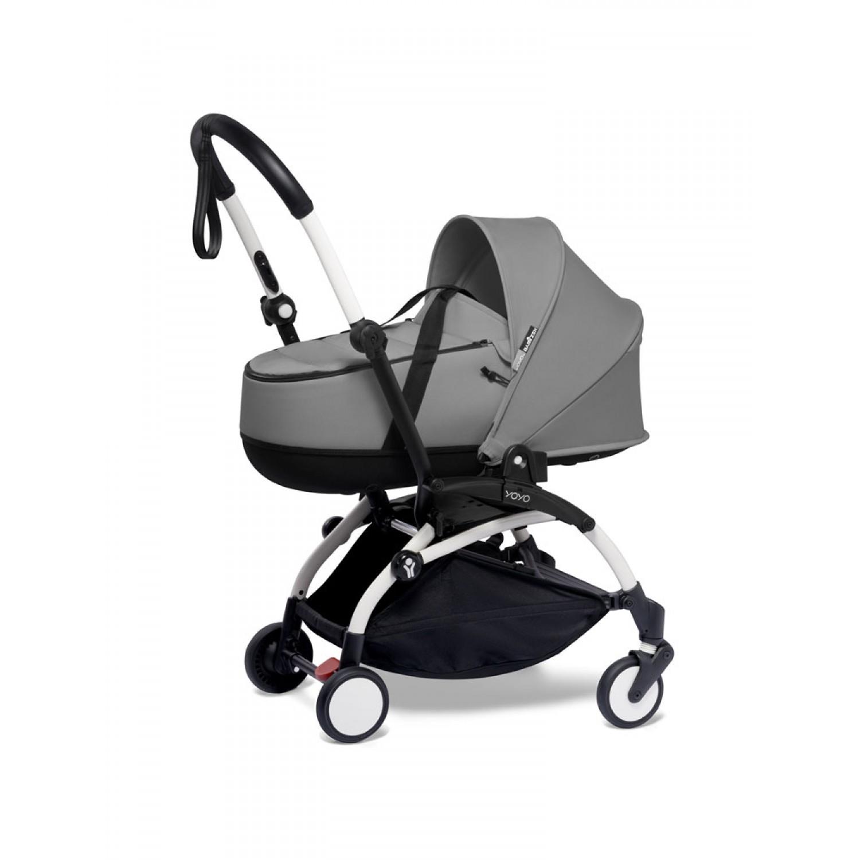 BABYZEN stroller YOYO2 bassinet  White Frame | Grey