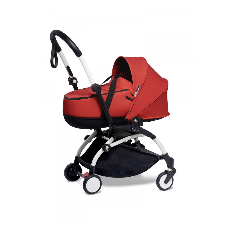 BABYZEN stroller YOYO2 bassinet  White Frame | Red