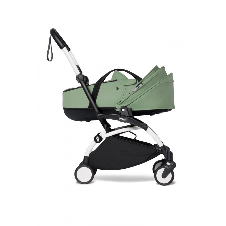 BABYZEN stroller YOYO2 bassinet  White Frame | Peppermint