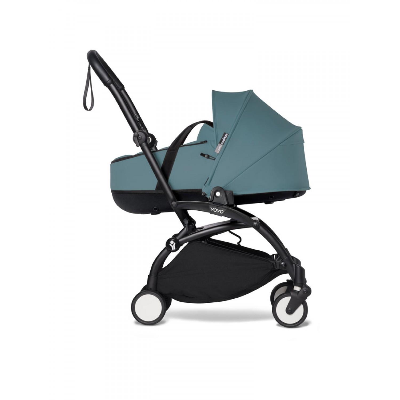 Complete BABYZEN stroller YOYO2 bassinet and 6+ Black Frame | Aqua