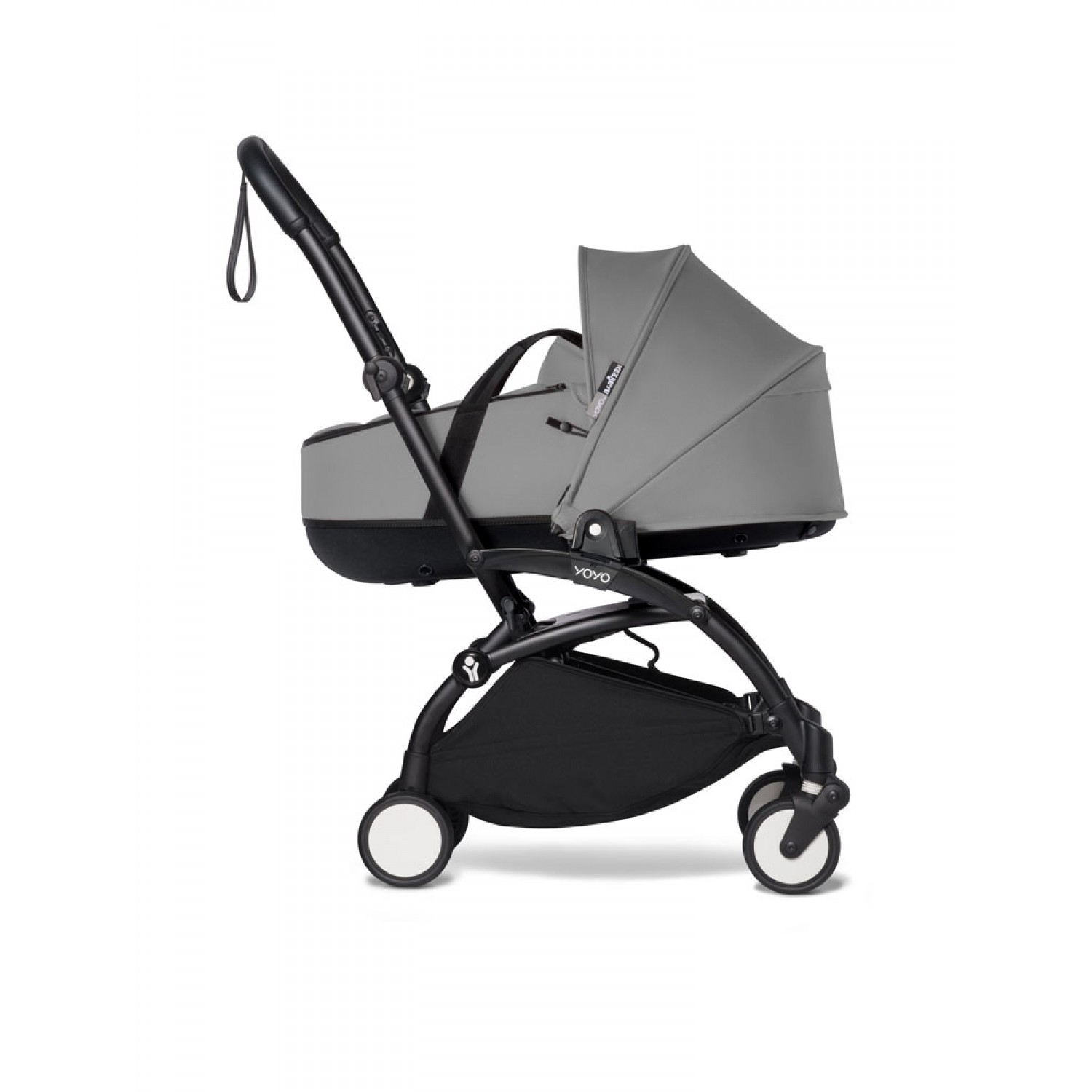 Complete BABYZEN stroller YOYO2 bassinet and 6+ Black Frame | Grey