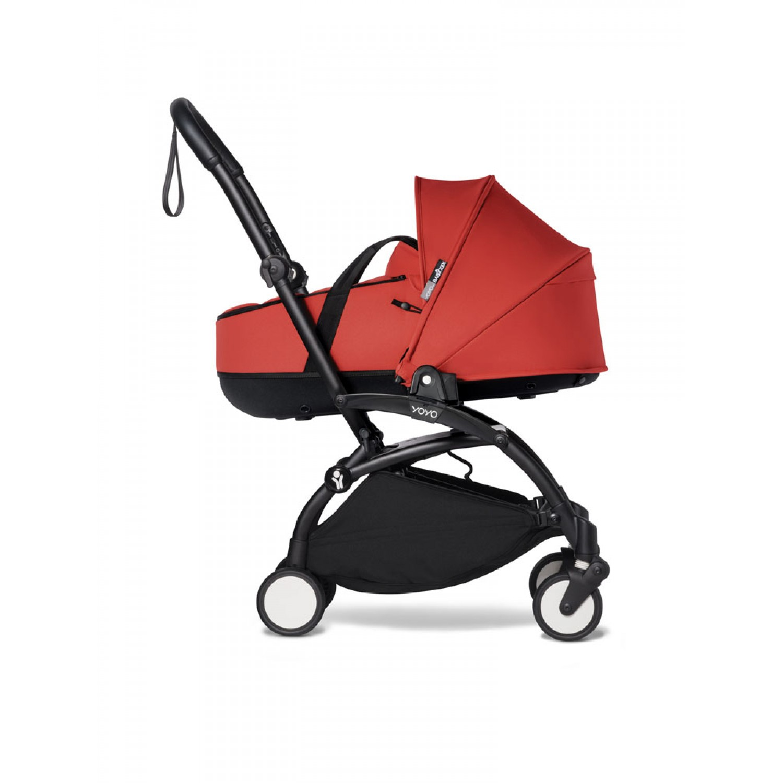 Complete BABYZEN stroller YOYO2 bassinet and 6+ Black Frame | Red
