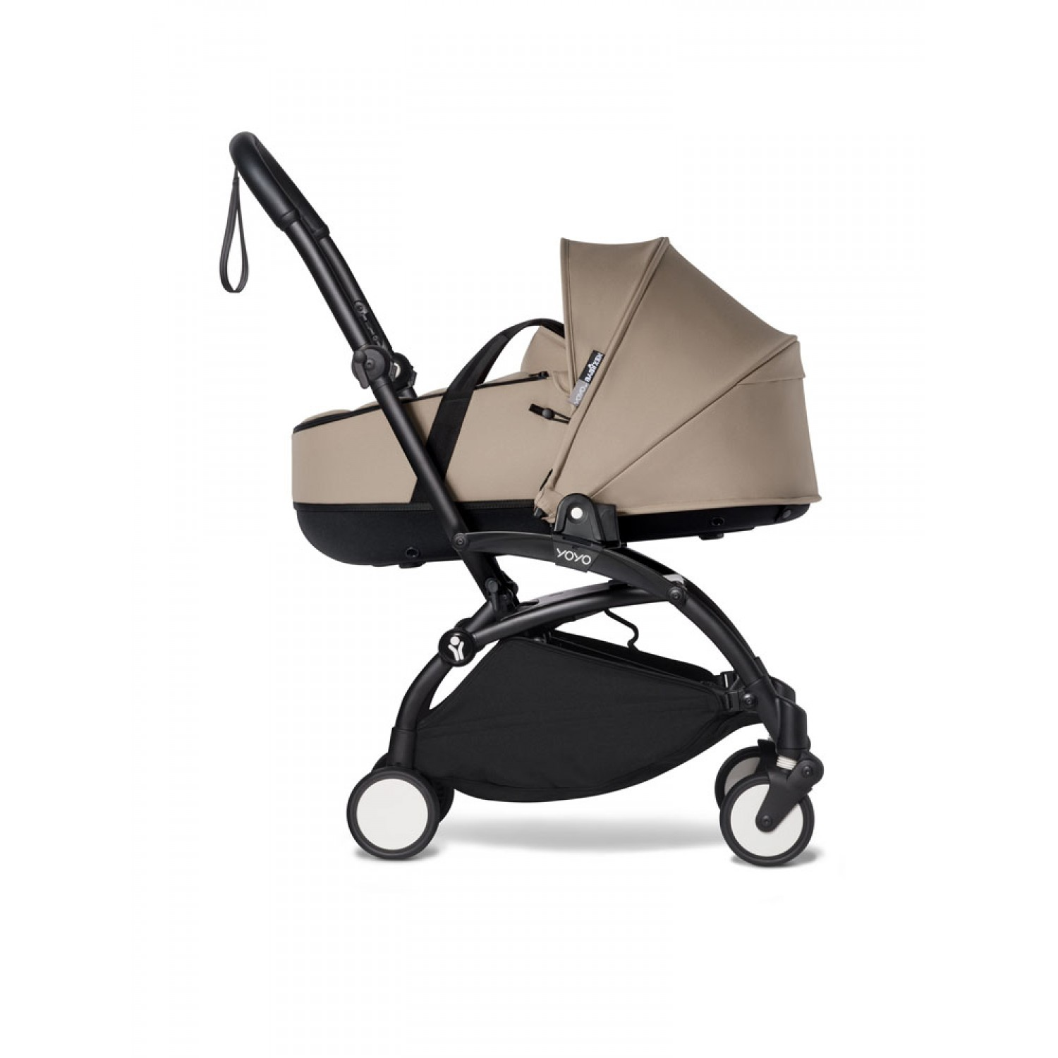 Complete BABYZEN stroller YOYO2 bassinet and 6+ Black Frame | Taupe