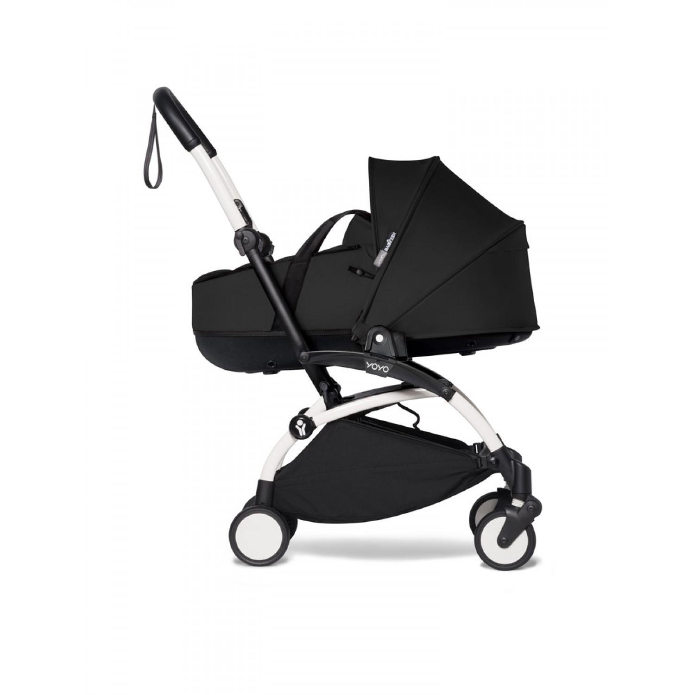 Complete BABYZEN stroller YOYO2 bassinet and 6+ White Frame   Black