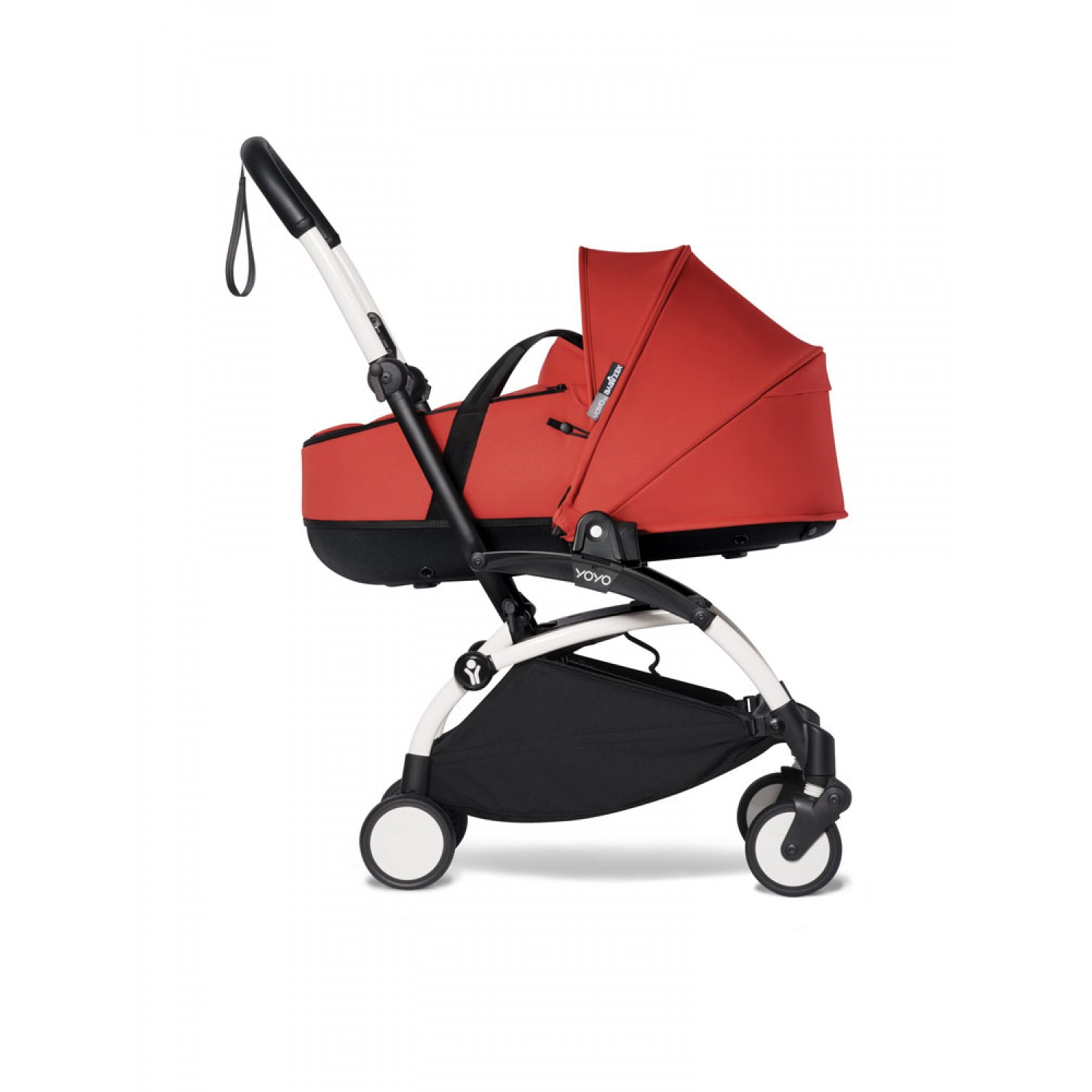 Complete BABYZEN stroller YOYO2 bassinet and 6+ White Frame | Red