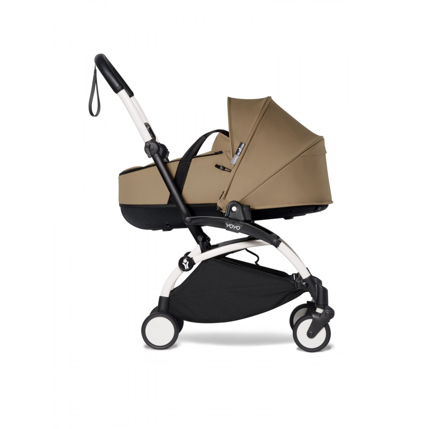 Complete BABYZEN stroller YOYO2 bassinet and 6+ White Frame | Toffee