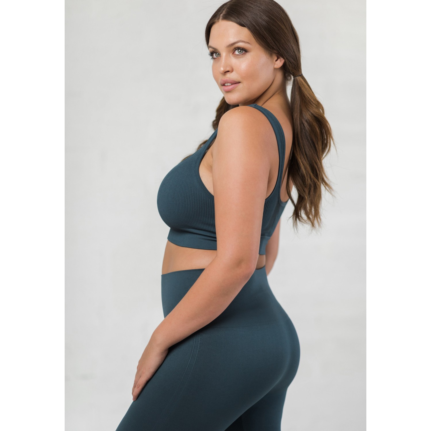 BLANQI® EVERYDAY™ RIBBED SEAMLESS BRALETTE   STORM