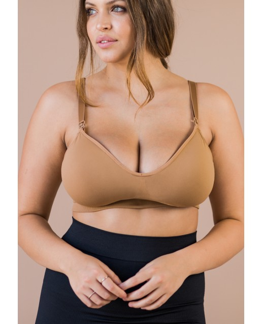 BLANQI® BODY™ COOLING MATERNITY + NURSING BRA | DEEP TAN