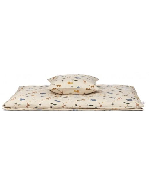 Carmen Bed Linen Baby | Safari sandy mix