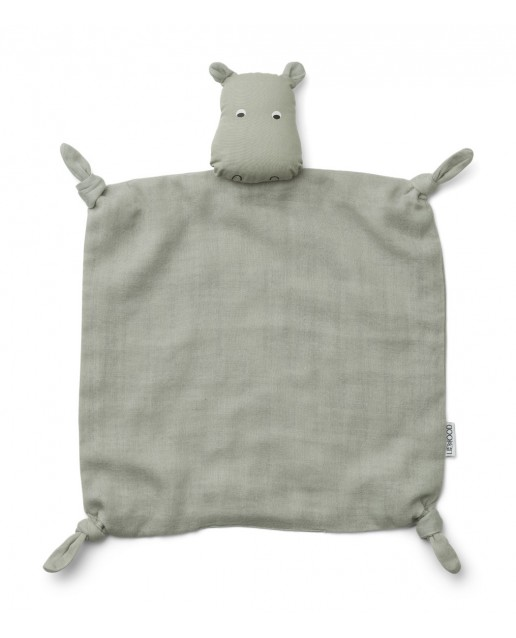 Agnete Cuddle Cloth | Hippo dove blue