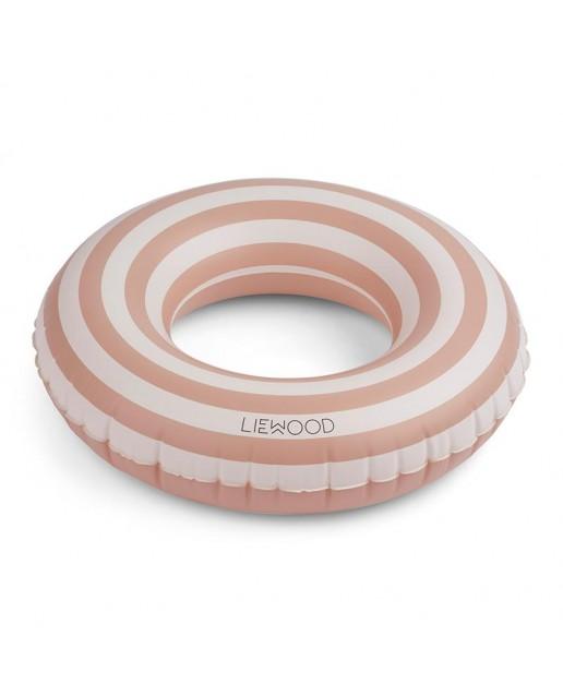 Donna swim ring - Stripe: Rose/Creme de la creme