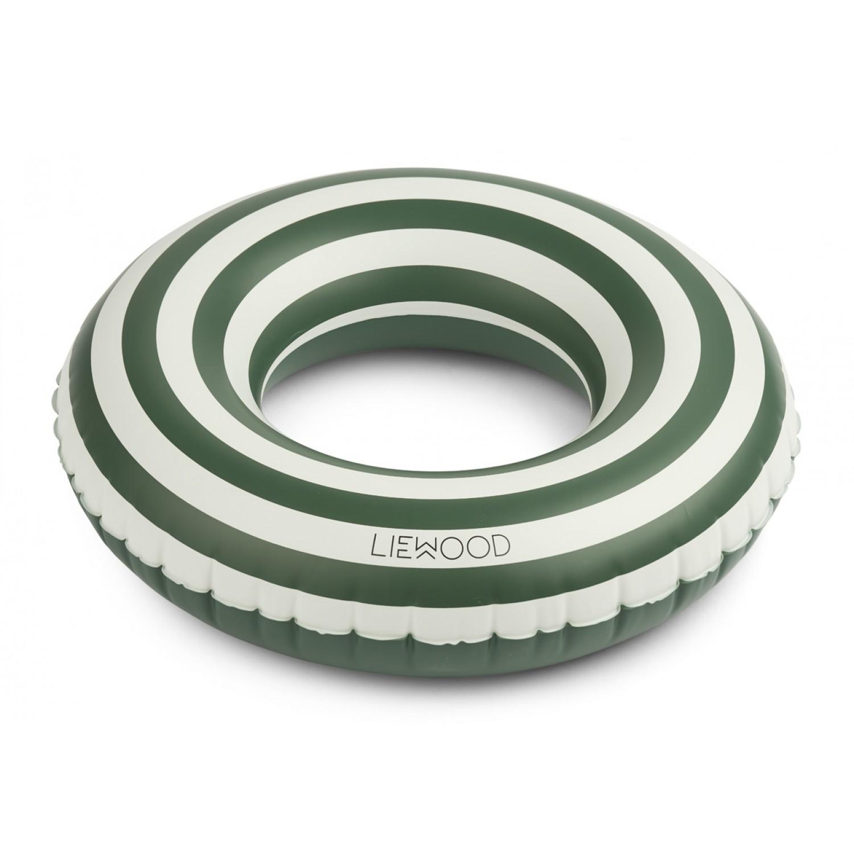 Baloo Swim Ring   Stripe: Garden green/creme de la creme