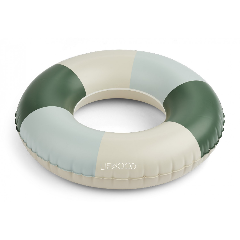 Baloo Swim Ring | Stripe: Garden green/sandy/dove blue