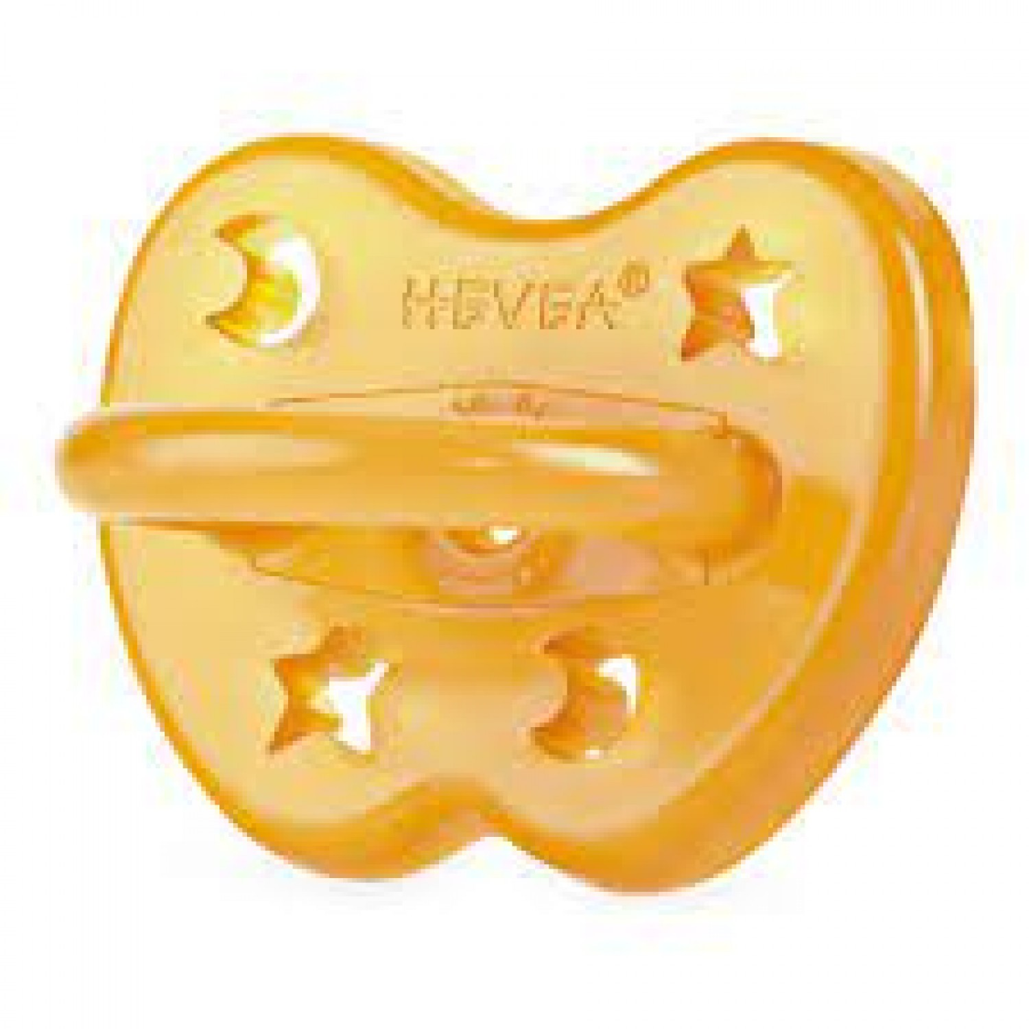 HEVEA ROUND PACIFIER, NATURAL 0-3 MONTHS