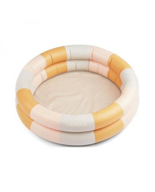 Leonore Pool - Stripe: Peach/sandy/yellow mellow