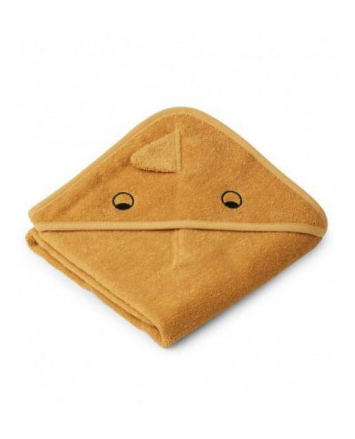 Albert Hooded Baby Towel    Dino yellow mellow