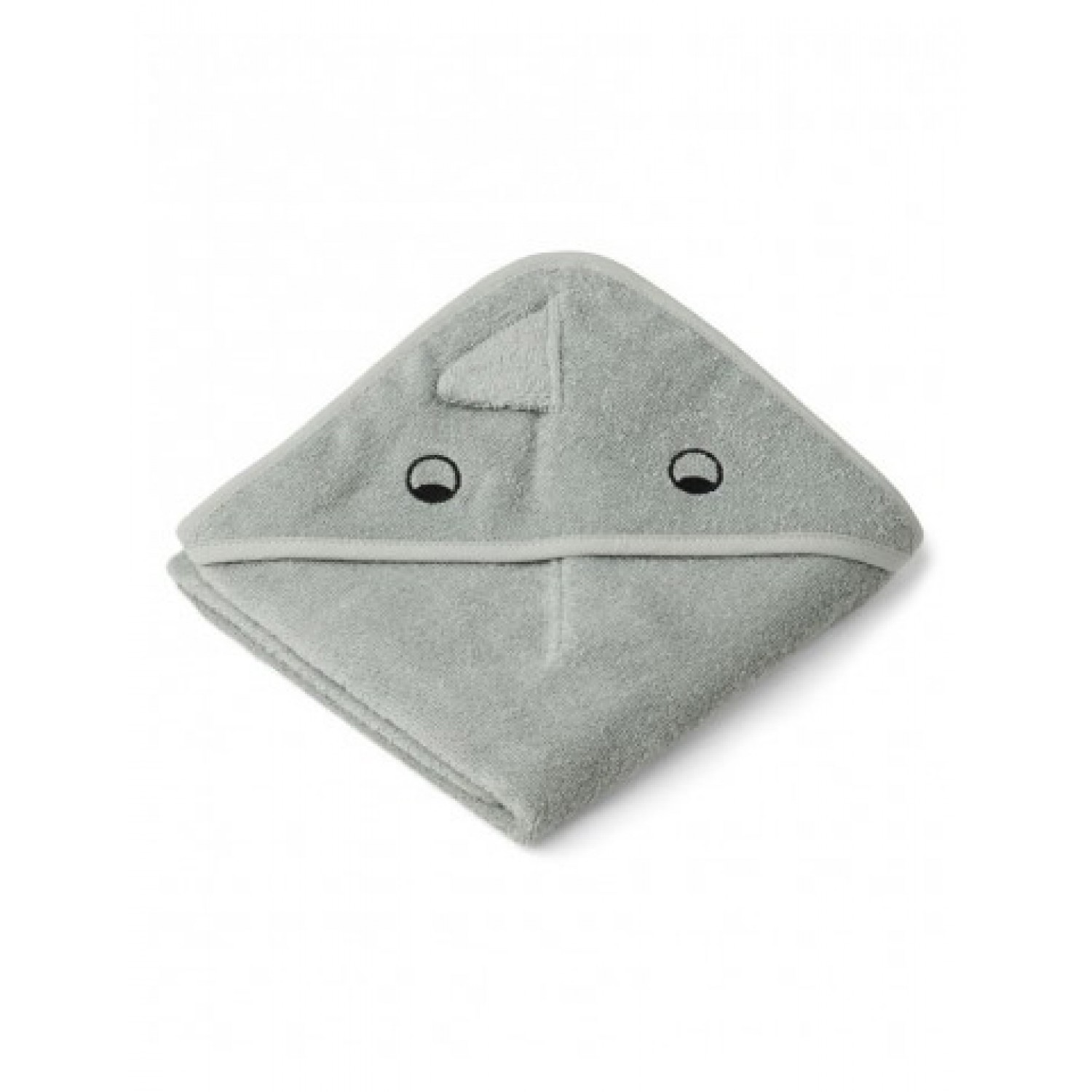 Albert Hooded Baby Towel | Dino dove blue mix