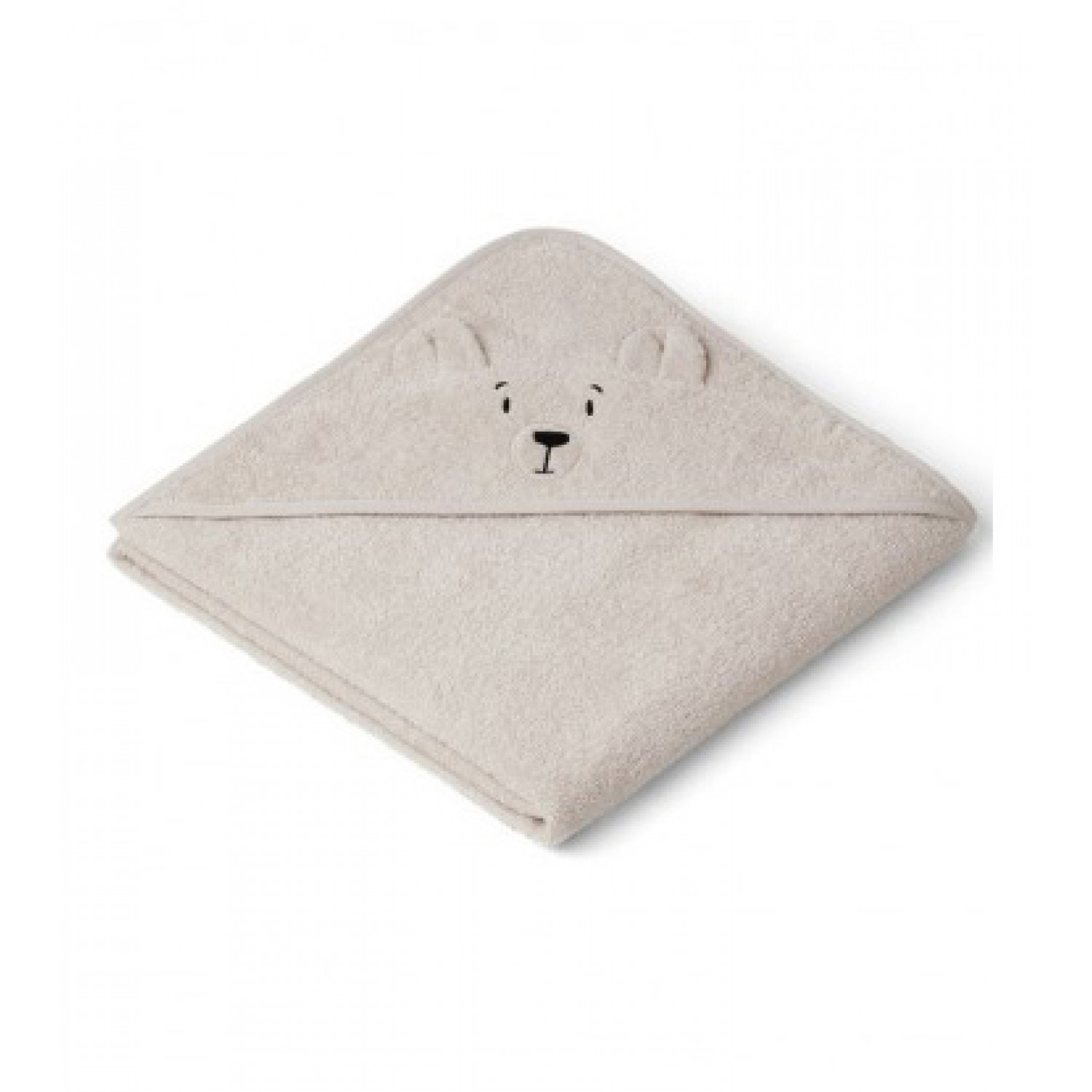 Augusta Hooded Junior Towel - Polar bear sandy