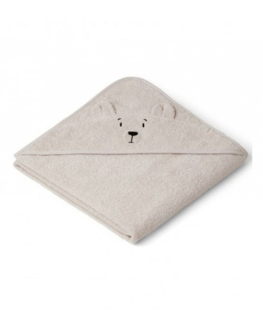Augusta Hooded Junior Towel - Polar bear sandy