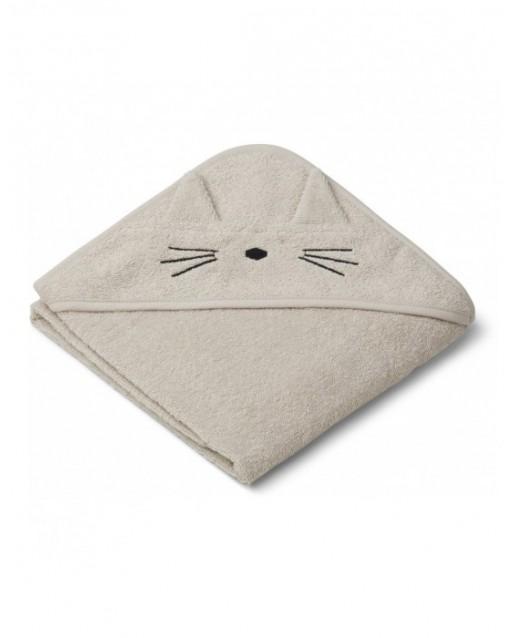 ALBERT / HOODED BABY TOWEL - CAT SANDY