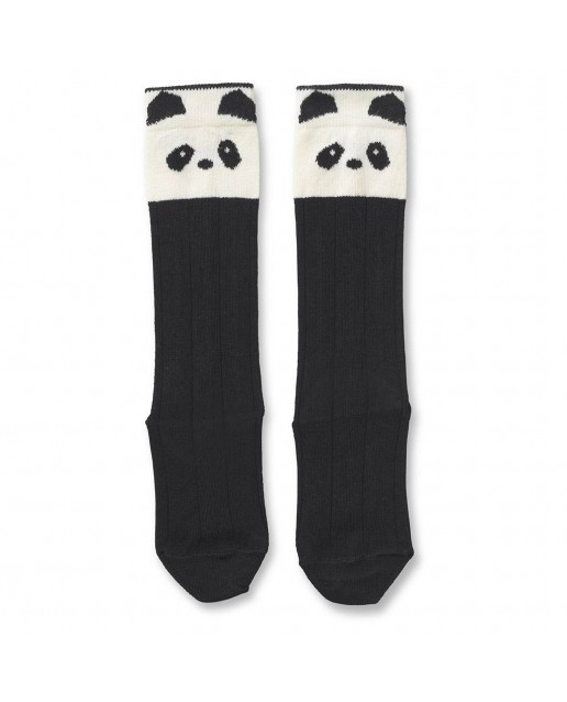SOFIA COTTON KNEE SOCKS - PANDA CREME DE LA CREME