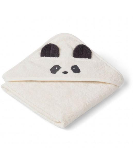 ALBERT / HOODED BABY TOWEL - PANDA CRÈME DE LA CRÈME