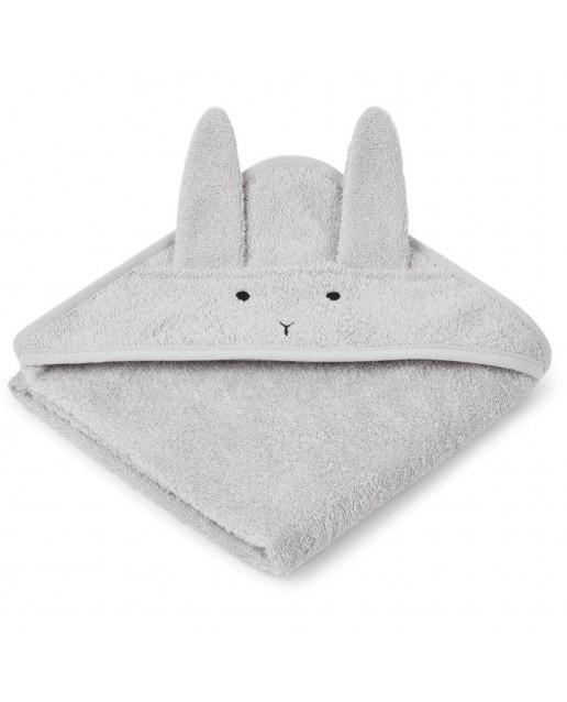 ALBERT / HOODED BABY TOWEL - RABBIT DUMBO GREY