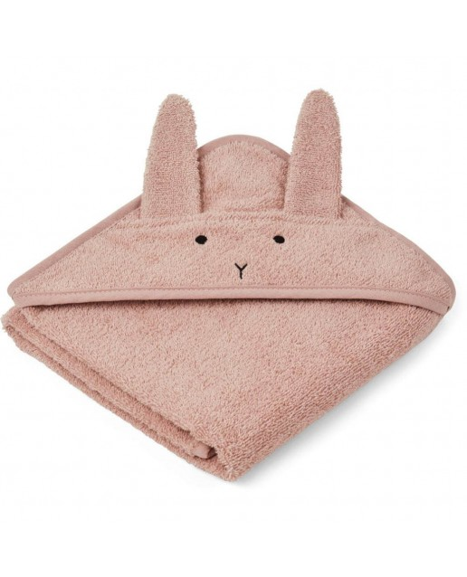 ALBERT / HOODED BABY TOWEL - RABBIT ROSE