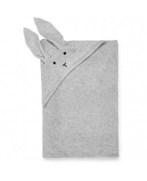 MARLEY KNIT BLANKETS - RABBIT DUMBO GREY
