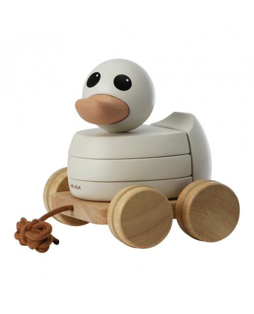 Kawan rubberwood stacker & pull toy