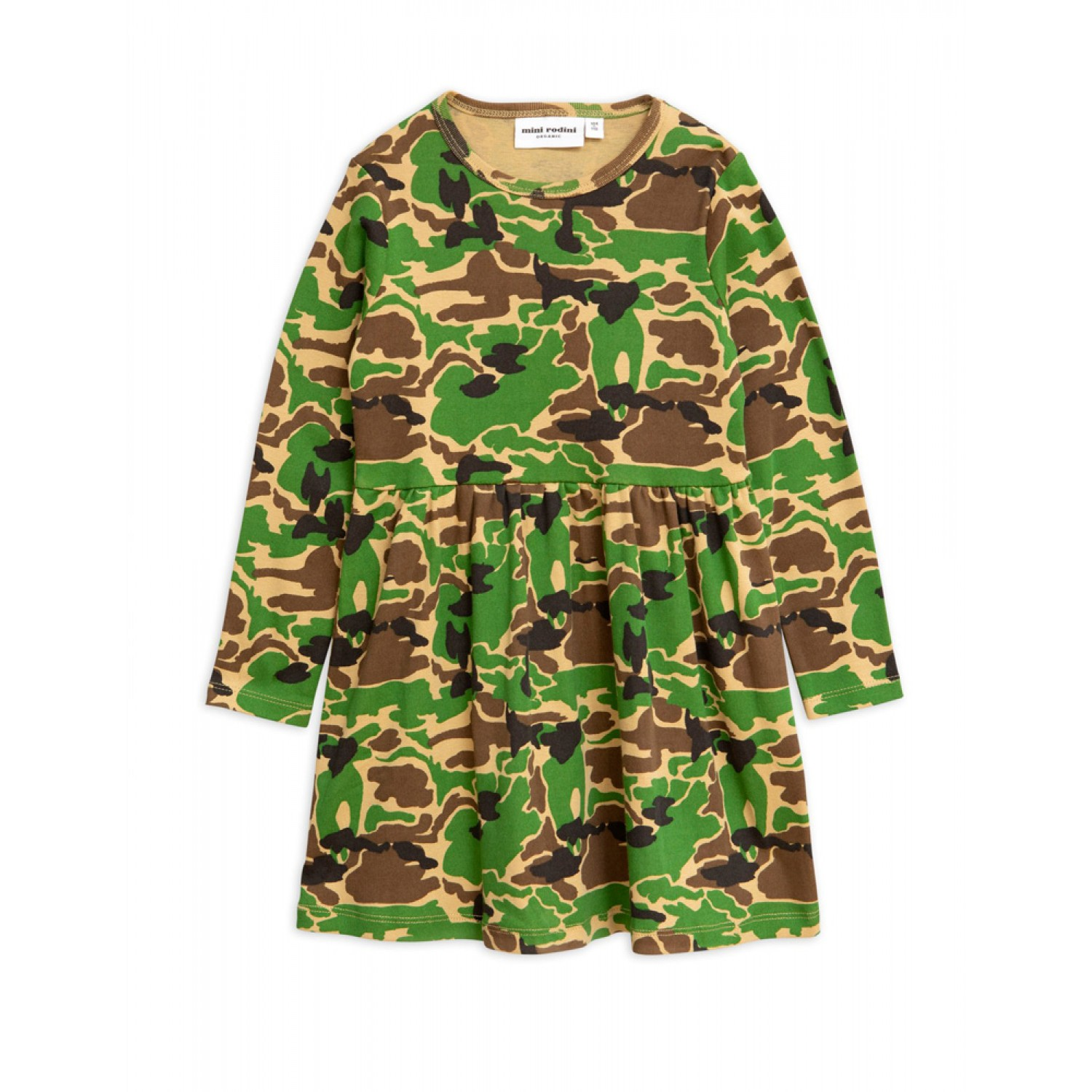 CAMO LONG SLEEVE DRESS