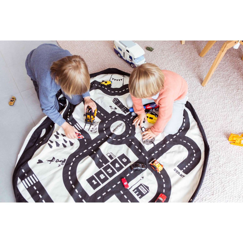 Roadmap/thunderbolt toy storage bag