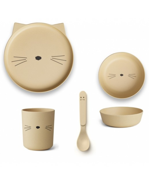 Bamboo Set | Cat Smoothie Yellow