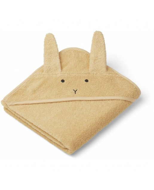ALBERT HOODED BABY TOWEL | RABBIT SMOOTHIE YELLOW