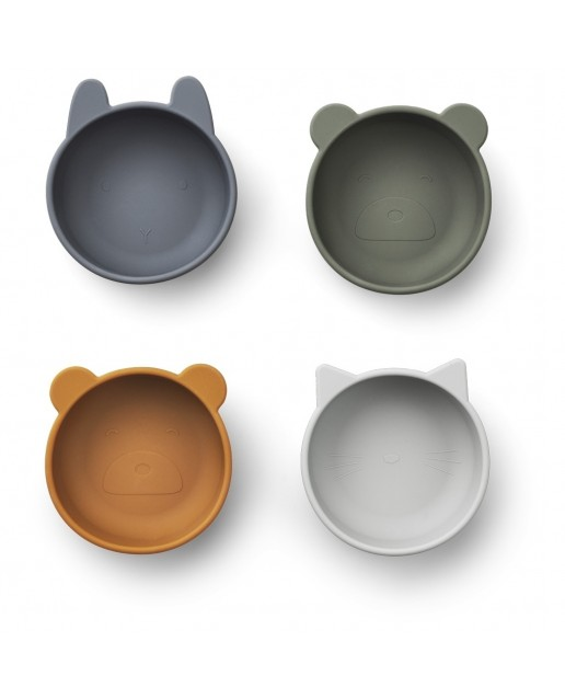 IGGI Silicone Bowls - 4 Pack | Rose Mix
