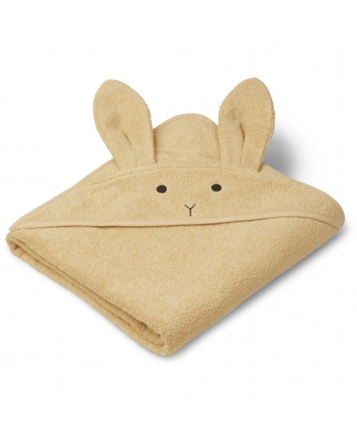 AUGUSTA HOODED TOWEL | RABBIT SMOOTHIE YELLOW