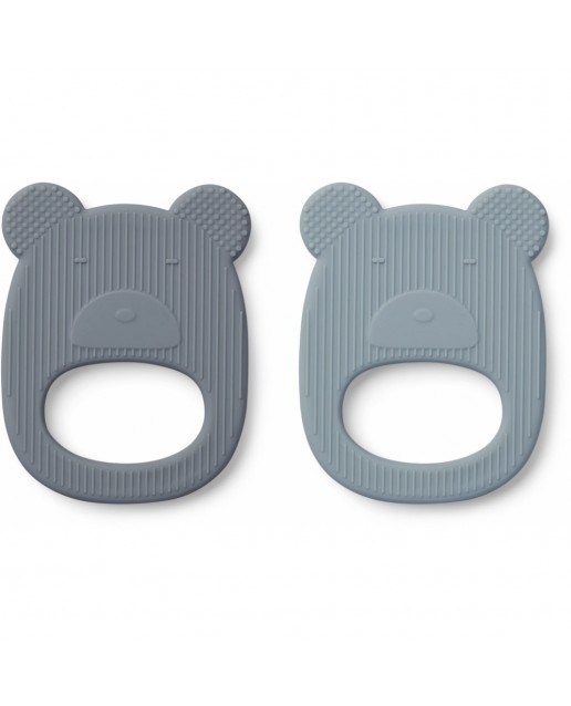 Geo Teether - 2 Pack | Mr Bear Blue Mix