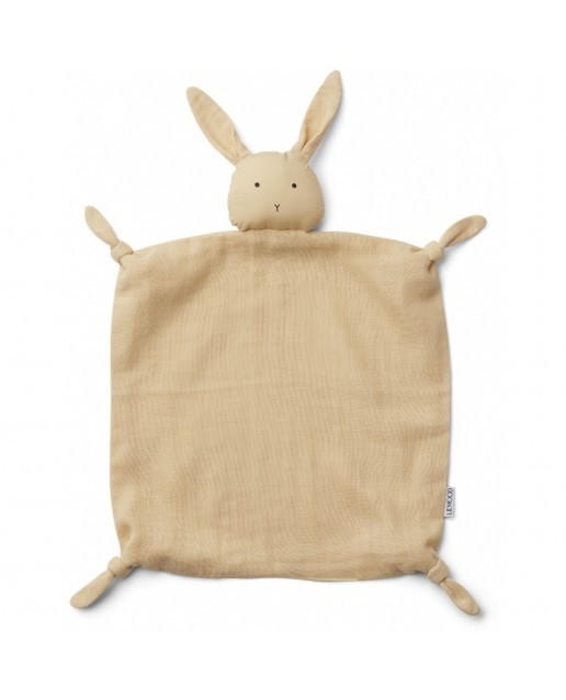 Agnete cuddle cloth | Rabbit smoothie yellow