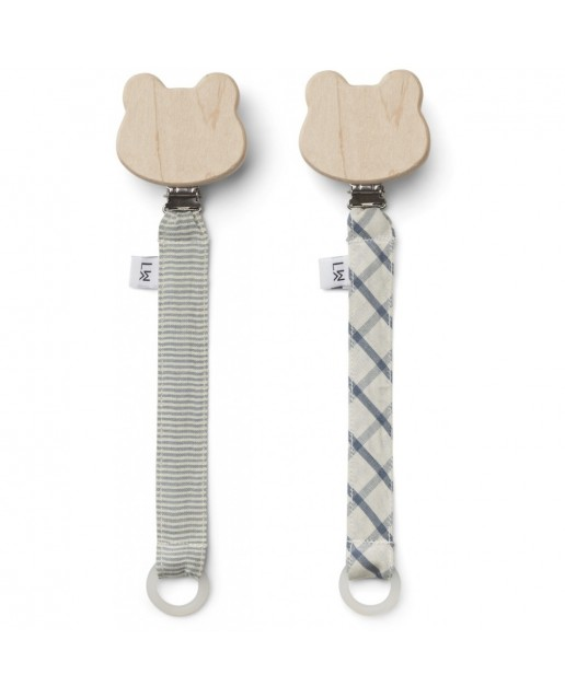 Sia pacifier strap 2 pack | Blue Mix