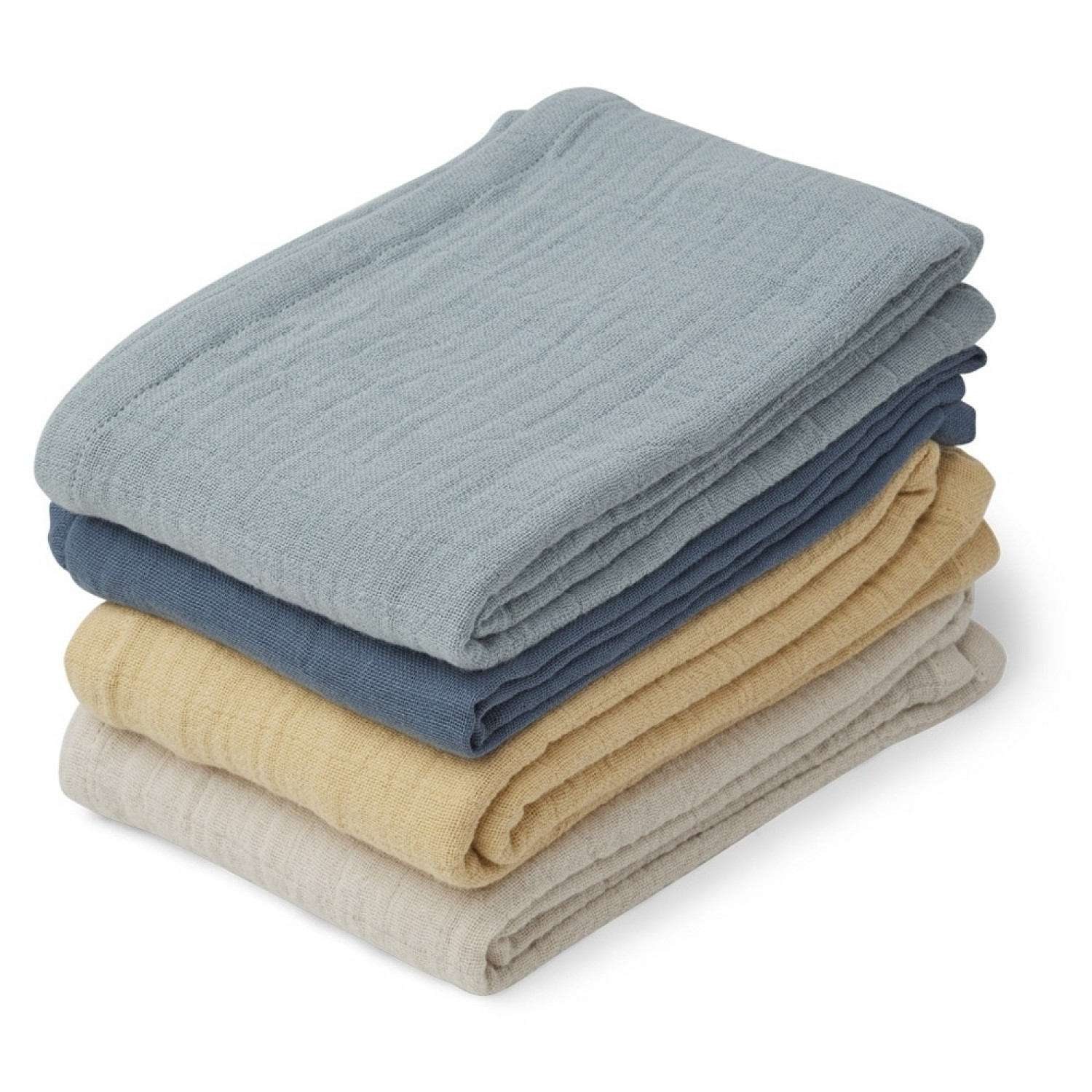 MUSLIN CLOTH LEON - 4 PACK | BLUE MIX