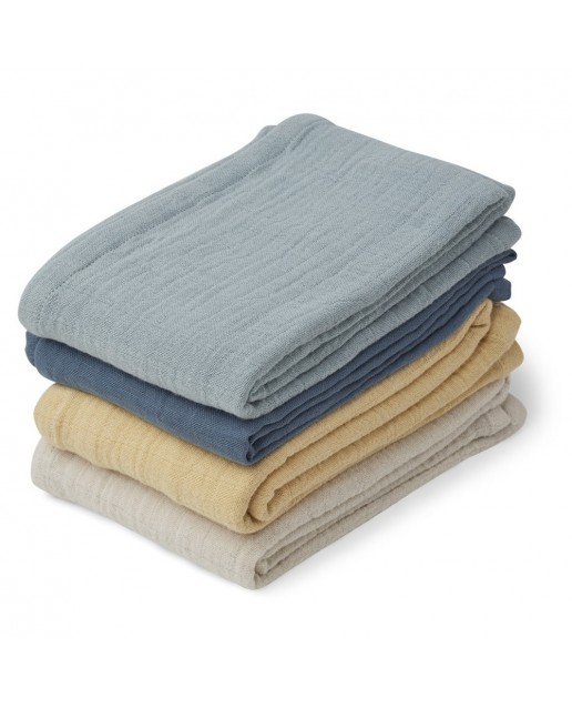 MUSLIN CLOTH LEON - 4 PACK | BLUE MIX