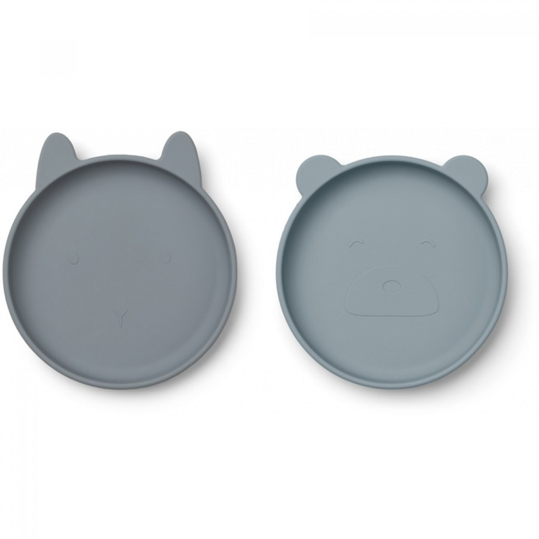 OLIVIA PLATE 2 PACK | BLUE MIX