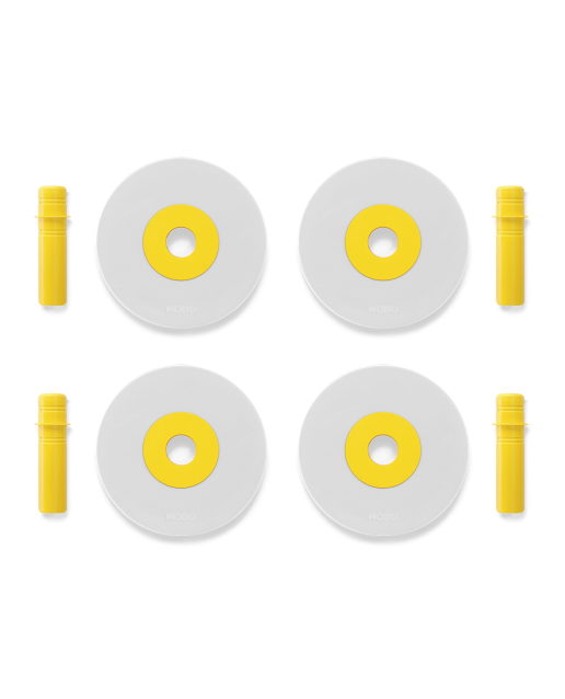 MODU 4 x Foam Wheels | Yellow
